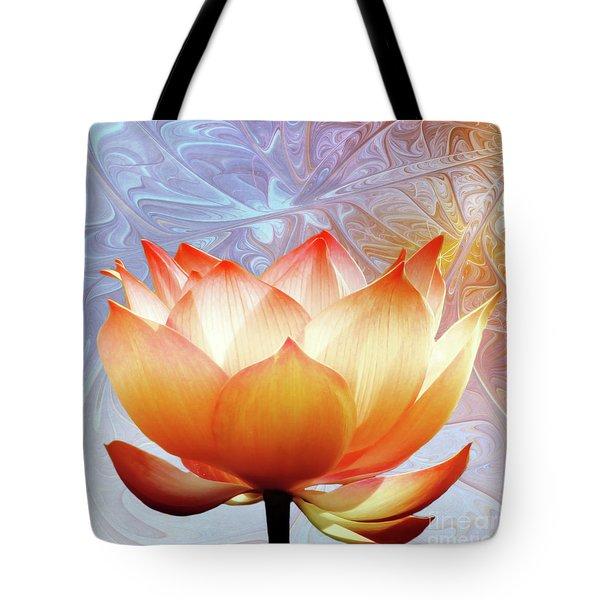 Sunshine Lotus Tote Bag by Photodream Art