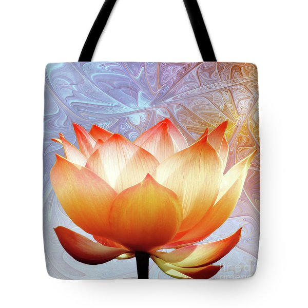 Sunshine Lotus Tote Bag by Photodream Art