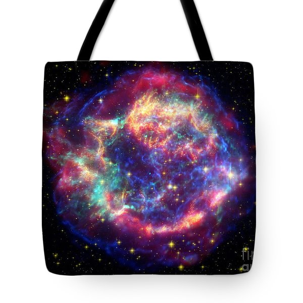 Supernova Remnant Cassiopeia A Tote Bag by Stocktrek Images
