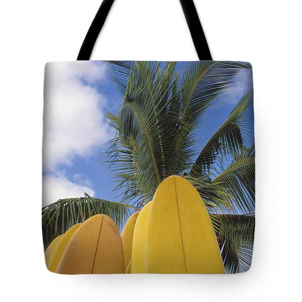 Surfboard Concession Tote Bag by Bob Abraham - Printscapes