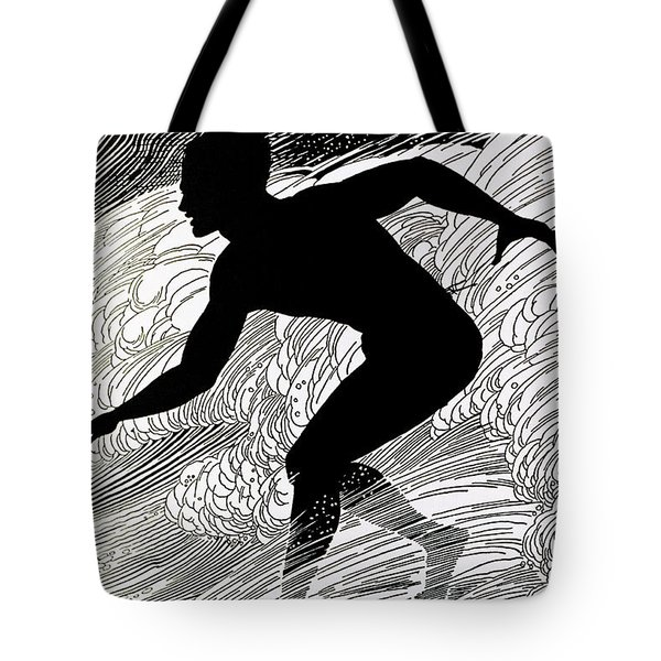 Surfer Tote Bag by Hawaiian Legacy Archive - Printscapes