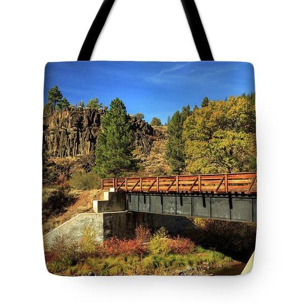 Susan River Bridge On The Bizz Tote Bag by James Eddy