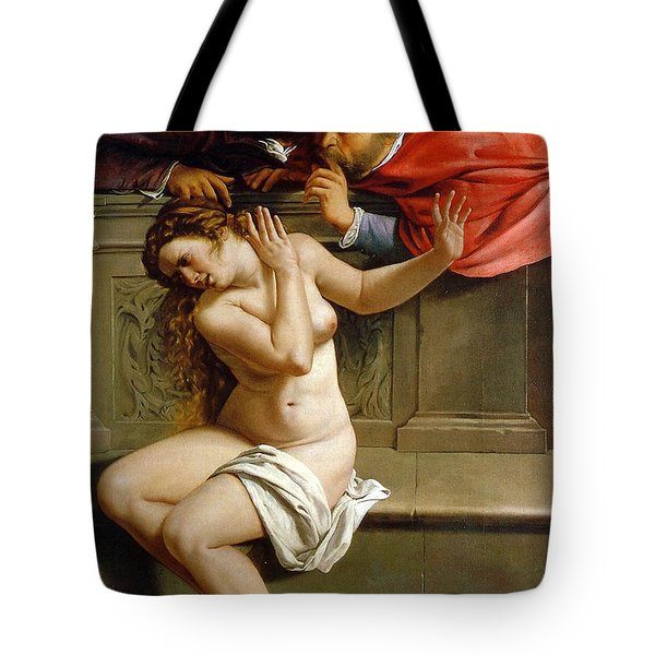 Susannah And The Elders Tote Bag by Artemisia Gentileschi