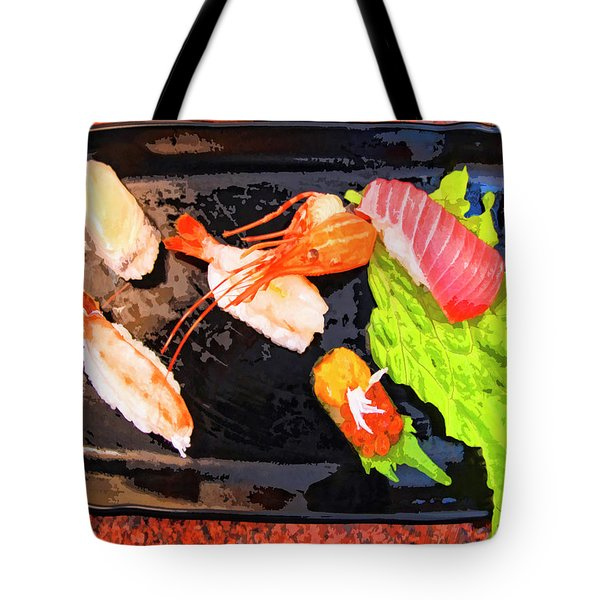 Sushi Plate 2 Tote Bag by Dominic Piperata