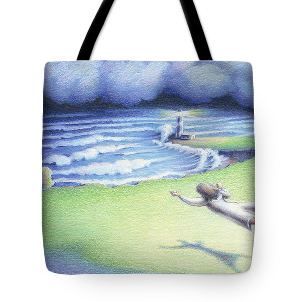 Suspended In Light Tote Bag by Amy S Turner