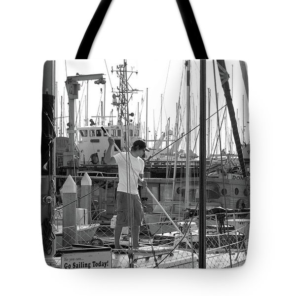 Swabbing The Deck Tote Bag by Betty LaRue