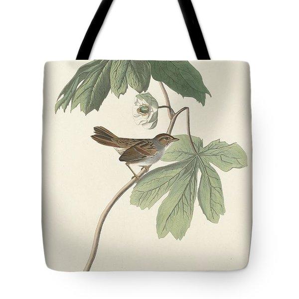 Swamp Sparrow Tote Bag by John James Audubon