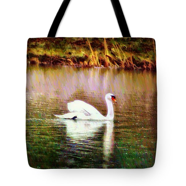 Swan Lake Tote Bag by Bill Cannon