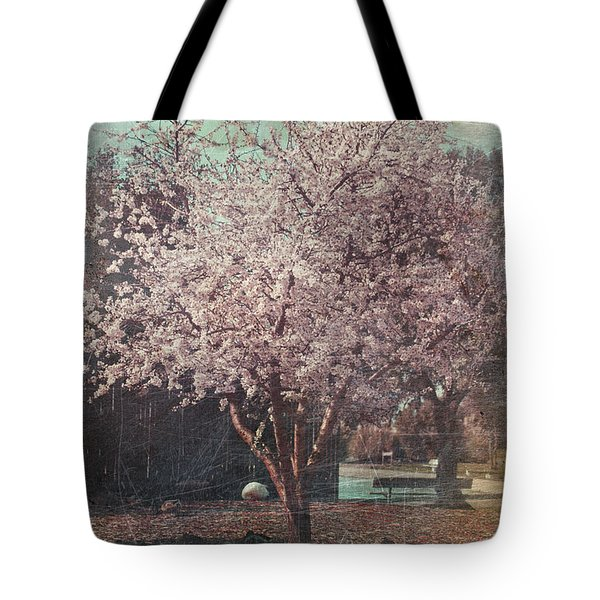 Sweet Kisses Under The Tree Tote Bag by Laurie Search