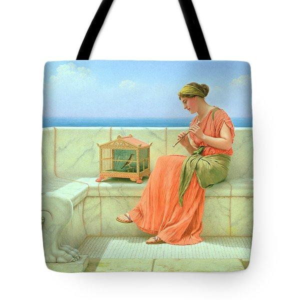 Sweet Sounds Tote Bag by John William Godward
