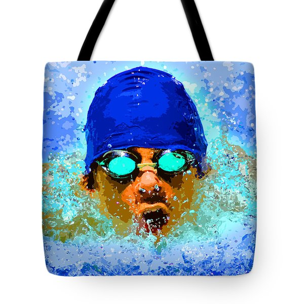 Swimmer Tote Bag by Stephen Younts