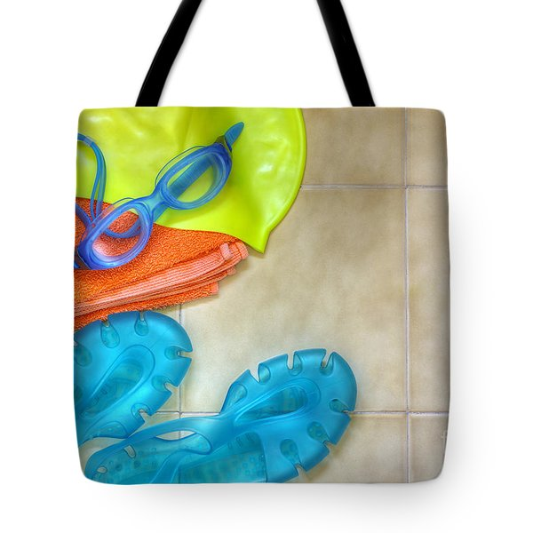 Swimming gear Tote Bag by Carlos Caetano