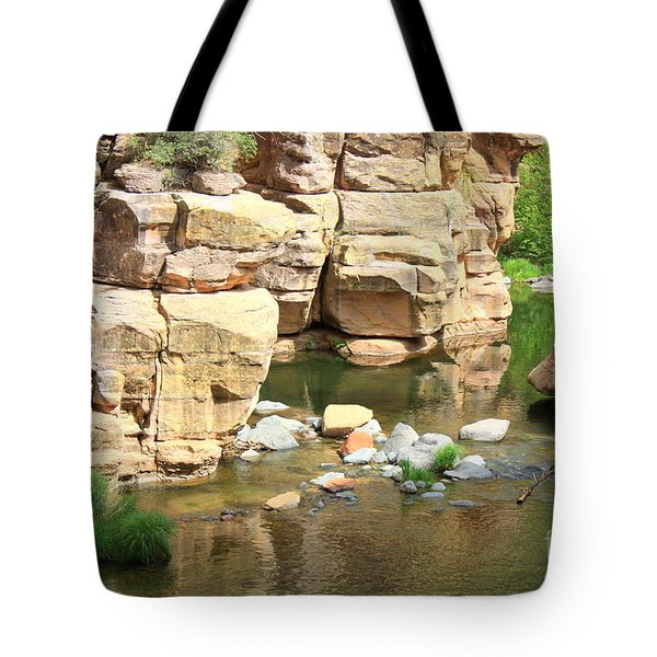 Swimming Hole At Slide Rock Tote Bag by Carol Groenen