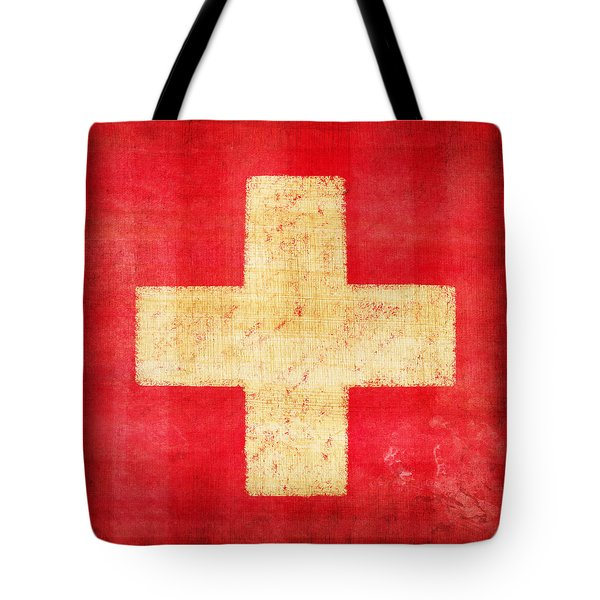 Switzerland Flag Tote Bag by Setsiri Silapasuwanchai