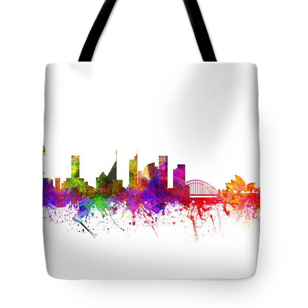 Sydney Australia Cityscape 02 Tote Bag by Aged Pixel