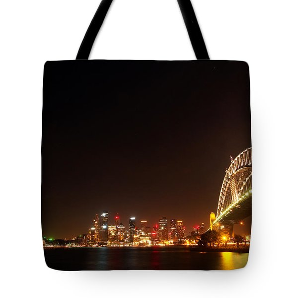 Sydney By Night Tote Bag by Justin Woodhouse