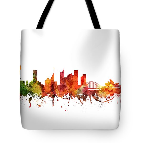 Sydney Cityscape 04 Tote Bag by Aged Pixel