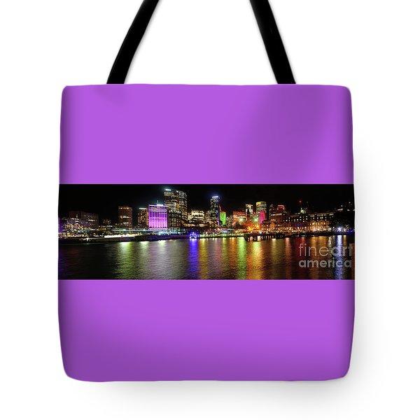Sydney Skyline By Kaye Menner Tote Bag by Kaye Menner