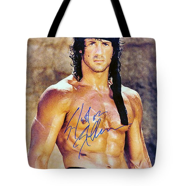 Sylvester Stallone Tote Bag by Studio Release