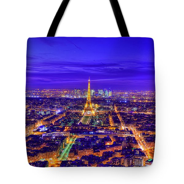 Symphony In Blue Tote Bag by Midori Chan