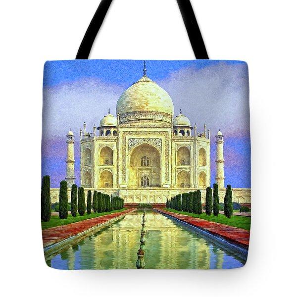 Taj Mahal Morning Tote Bag by Dominic Piperata