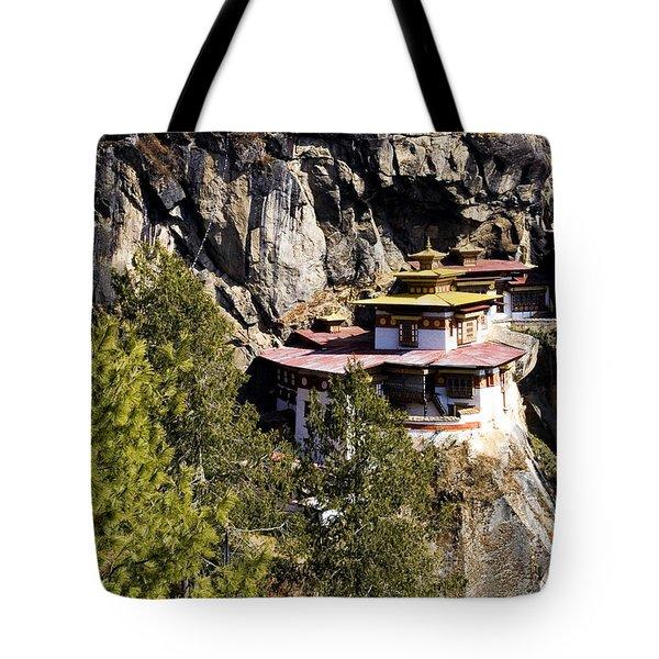 Taktsang Monastery Tote Bag by Fabrizio Troiani