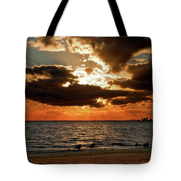 Tampa Bay Sunset Tote Bag by Christopher Holmes