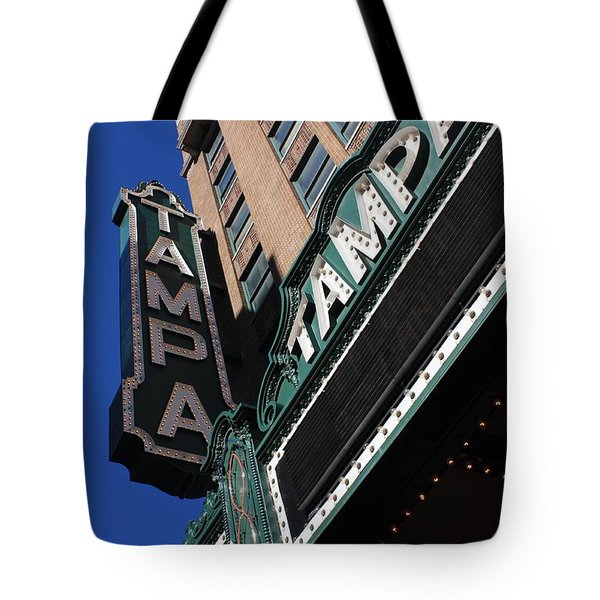 Tampa Theatre Tote Bag by Carol Groenen