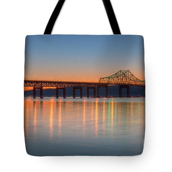 Tappan Zee Bridge After Sunset II Tote Bag by Clarence Holmes