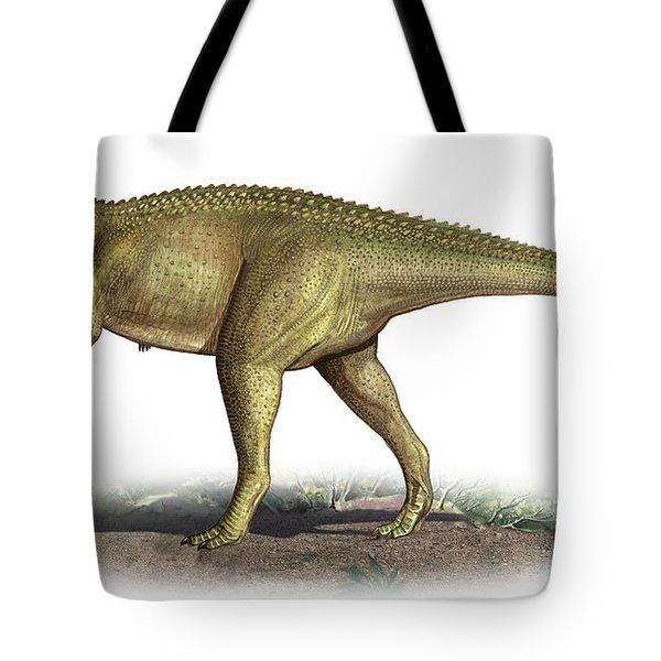 Tarascosaurus Salluvicus, A Prehistoric Tote Bag by Sergey Krasovskiy