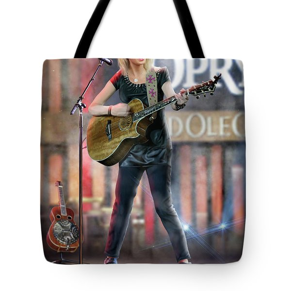 Taylor At The Opry Tote Bag by Don Olea