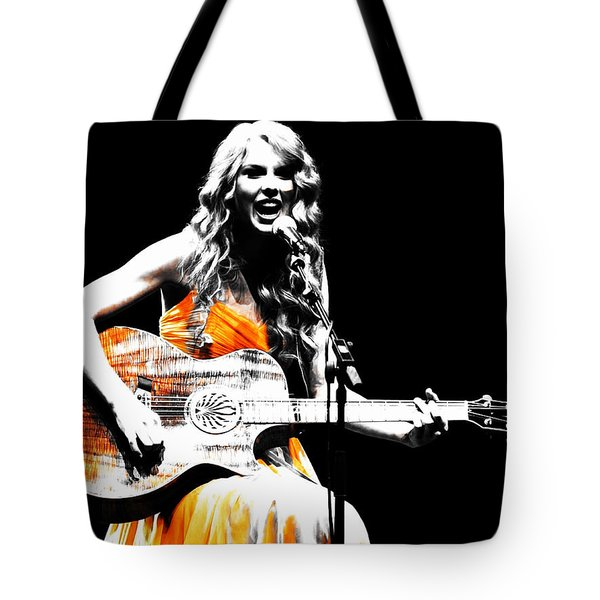 Taylor Swift 9s Tote Bag by Brian Reaves