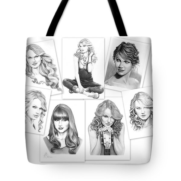 Taylor Swift Collage Tote Bag by Murphy Elliott