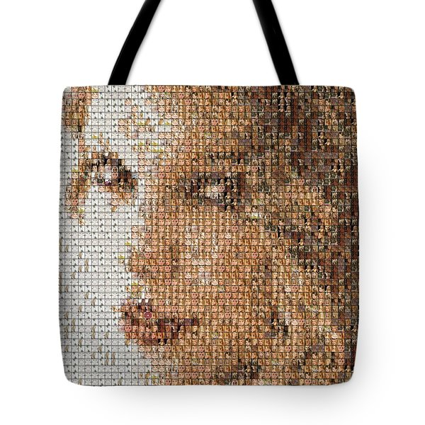 Taylor Swift Mosaic Tote Bag by Paul Van Scott