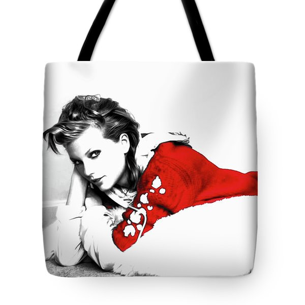 Taylor Swift Red 01a Tote Bag by Brian Reaves