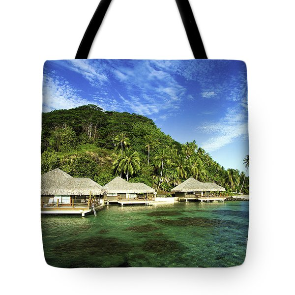 Te Tiare Resort Tote Bag by David Cornwell/First Light Pictures, Inc - Printscapes