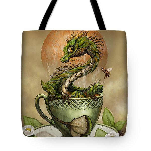 Tea Dragon Tote Bag by Stanley Morrison