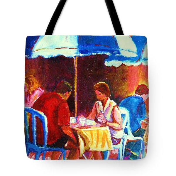 Tea For Two Tote Bag by Carole Spandau