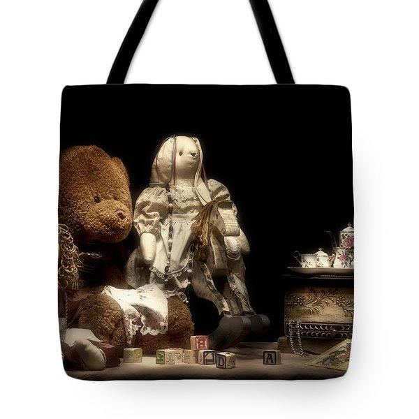 Tea Party Tote Bag by Tom Mc Nemar