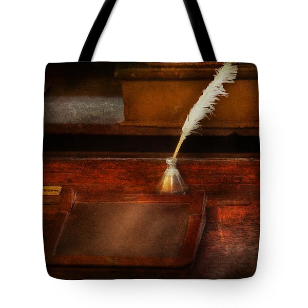 Teacher - The Writing Desk Tote Bag by Mike Savad