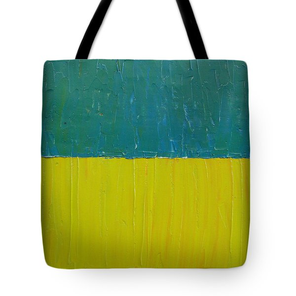 Teal Olive Tote Bag by Michelle Calkins