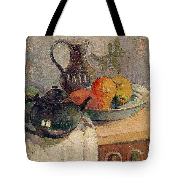 Teiera Brocca E Frutta Tote Bag by Paul Gauguin