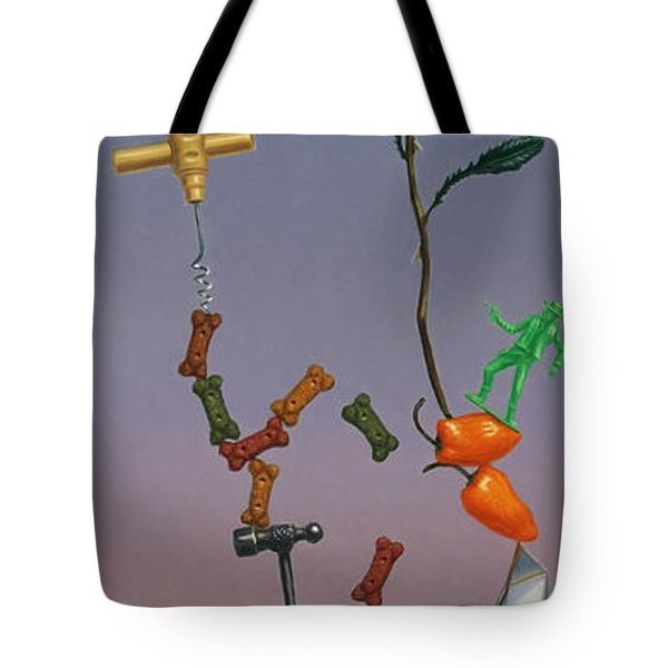 Tenuous Still-Life 3 Tote Bag by James W Johnson