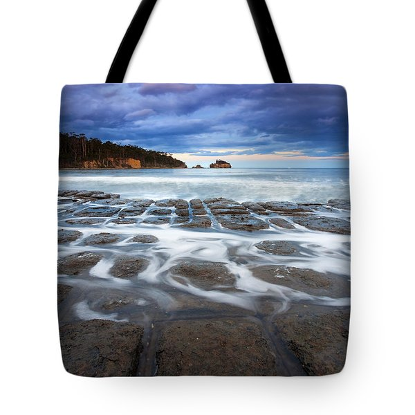 Tessellated Flow Tote Bag by Mike  Dawson