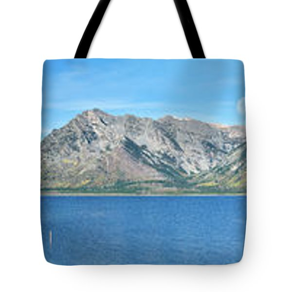 Teton Moonset Borderless Tote Bag by Greg Norrell