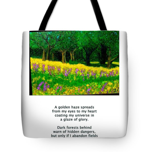 Texas Gold Tote Bag by Carolyn Donnell