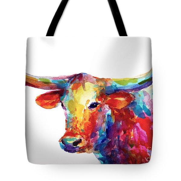 Texas Longhorn Art Tote Bag by Svetlana Novikova