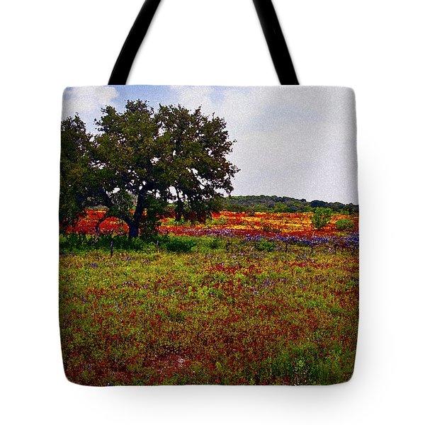 Texas Wildflowers Tote Bag by Tamyra Ayles