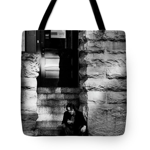 Texting Tote Bag by David Patterson