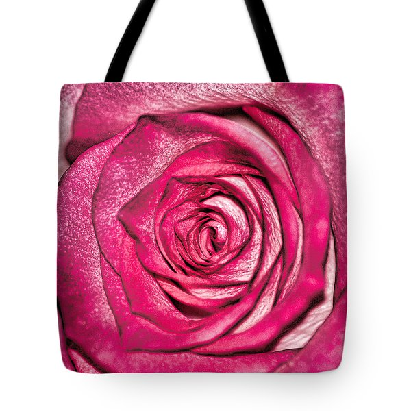 Texture Of A Rose Tote Bag by Martin Newman